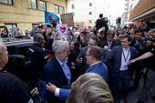 Jeremy Corbyn MP arriving being greated by Paul Nowak TUC conference, Brighton. - Jess Hurd - 15-09-2015