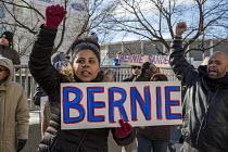 Detroit Supporters of Bernie Sanders rally - Jim West - 2010s,2016,African American,African Americans,African-American,America,BAME,BAMEs,Bernie,Bernie Sanders,black,BME,bmes,campaign,campaigning,CAMPAIGNS,democracy,Democratic primary,DEMONSTRATING,demonst