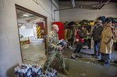 Flint, Michigan, Residents pick up clean bottled water and water filters from Red Cross disaster relief volunteers, Fire Station #6. Water and filters were distributed after cost cutting by state offi... - Jim West - 13-01-2016