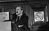 Labour MP Tony Benn, a strong opponent of the Common Market, at a Labour Party Special conference on EEC membership (later European Union) - Martin Mayer - 25-04-1975