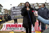 Diane Abbott MP speaking Kent Anti Racism Network protest against National Front anti refugee protest Dover - Jess Hurd - 30-01-2016