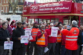 CWU Campaign against the Trade Union Bill. Heart Unions outdoor workplace meeting Mount Pleasant Mail Centre London - Jess Hurd - 11-02-2016