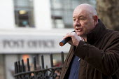 CWU Campaign against the Trade Union Bill. Heart Unions outdoor workplace meeting with Dave Ward, CWU Gen Sec, Mount Pleasant Mail Centre London - Jess Hurd - 11-02-2016