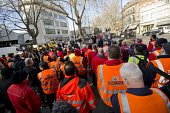 Campaign against the Trade Union Bill. Heart Unions outdoor workplace meeting with Dave Ward, CWU Gen Sec, Mount Pleasant Mail Centre London - Jess Hurd - 11-02-2016