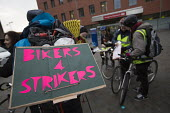 Bikers for Strikers. BMA Junior doctors strike and picket line. Royal London Hospital. Whitechapel, East London - Jess Hurd - 10-02-2016