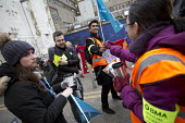 BMA Junior doctors strike and picket line. Royal London Hospital. Whitechapel, East London - Jess Hurd - 10-02-2016