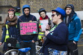 Janine Booth, RMT and Poets on a Picket Line support BMA Junior doctors strike. Royal London Hospital. Whitechapel, East London - Jess Hurd - 10-02-2016