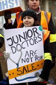 BMA Junior doctors strike and picket line. Guys and St Thomas Hospital, London - Jess Hurd - 10-02-2016
