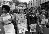 Nurses protest TUC day of action, heath workers pay claim, London 1982 - John Harris - 22-09-1982