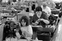 Church's Shoe factory production line Northampton 1994 - John Harris - 31-08-1994