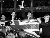 Young Conservatives waving a Union Jack flag, Conservative Party Conference Blackpool 1993 - John Harris - 10-09-1993