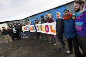 Teachers from the UK volunteer to teach refugees over half term campaign to Save Our School, The Jungle camp, Calais, France - Jess Hurd - 19-02-2016