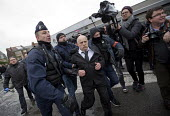 Calais, France, Police arresting Williy Destiert, French far right protest march against immigrants is stopped by the police prior to eviction of refugees in the makeshift Jungle camp by French author... - Jess Hurd - 2010s,2016,activist,activists,adult,adults,against,arrest,arrested,arresting,authorities,Calais,camera,cameras,camp,CAMPAIGN,campaigner,campaigners,CAMPAIGNING,CAMPAIGNS,camps,CLJ,communicating,commun