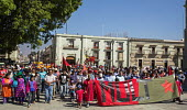 Oaxaca, Mexico Triqui ethnic group protest their displacement from their homes and the violence that prevades the area of western Oaxaca where they live. Many Triquis have been forced through poverty... - Jim West - 2010s,2016,activist,activists,americas,Amerindian,Amerindians,apparel,BAME,BAMEs,Black,BME,bmes,CAMPAIGN,campaigner,campaigners,CAMPAIGNING,CAMPAIGNS,cities,city,clothes,clothing,culture,DEMONSTRATING