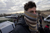 The Jungle Calais, 25 year old refugee from Afganistan fleeing the Taliban and Daesh, he has been living in the makeshift refugee camp for 3 months, Calais, France - Jess Hurd - 23-02-2016