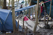 Squalid conditions in the Grande-Synthe refugee camp. Dunkirk, France. - Jess Hurd - 24-02-2016
