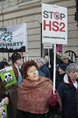 Local residents protest at the opening of HS2 publicity office, Euston, London - Philip Wolmuth - 2010s,2016,activist,activists,against,campaign,campaigner,campaigners,campaigning,CAMPAIGNS,cities,city,DEMONSTRATING,demonstration,DEMONSTRATIONS,development,europeregi,Euston,FEMALE,high,HS2,Local,L