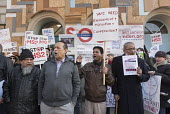 Local residents protest at the opening of HS2 publicity office, Euston, London - Philip Wolmuth - 2010s,2016,activist,activists,against,Asian,Asians,BAME,BAMEs,black,BME,bmes,campaign,campaigner,campaigners,campaigning,CAMPAIGNS,cities,city,DEMONSTRATING,demonstration,DEMONSTRATIONS,development,di