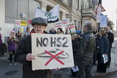 Local residents protest at the opening of HS2 publicity office, Euston, London - Philip Wolmuth - 24-02-2016