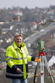 Mick Upfield working for Ordinance Survey, High Wickham. Mick Upfield working for Ordnance Survey, High Wickham - Jess Hurd - 22-03-2013