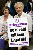 Jeremy Corbyn MP. Rally organised by the Justice Alliance in opposition to the government attack on legal aid and access to justice. Old Bailey, City of London. - Jess Hurd - 30-07-2013