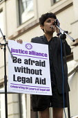 Rally organised by the Justice Alliance in opposition to the government attack on legal aid and access to justice. Old Bailey, City of London. - Jess Hurd - 30-07-2013