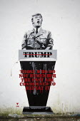 Donald Trump as a Nazi, street art mural painted by Pegasus, Bedminster, Bristol. Those who do not remember the past are condemned to repeat it (George Santayana) - Paul Box - 2010s,2016,ACE,Adolf Hitler,art,arts,cities,City,culture,DEMOCRACY,Donald Trump,election,elections,europeregi,FACISM,FACIST,FACISTS,Far Right,Far Right,fascism,Fascist,Fascists,graffiti,mural,murals,N