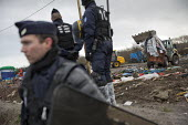 CRS riot police, demolition of the Jungle refugee camp, Calais, France - Jess Hurd - 03-03-2016