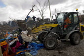 Demolition of the southern part of the refugee makeshift Jungle camp. Calais, France. - Jess Hurd - 03-03-2016