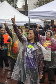 San Francisco Domestic Workers rally for a permanent Bill of Rights to provide domestic workers, housekeepers and cleaners the right to overtime pay, meal breaks and decent pay - David Bacon - 04-03-2016