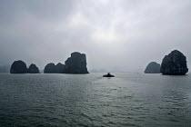 Coal Barges, Ha Long Bay, North Vietnam - David Bacon - 09-12-2015