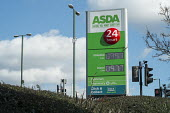 Asda petrol and diesel prices drop below 1.00 per litre, petrol station, Wembley, London - Philip Wolmuth - 04-03-2016