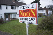 Estate agent's flat for sale sign, Epsom, Surrey. - Philip Wolmuth - 08-03-2016