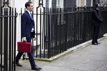 Chancellor George Osborne leaving 11 Downing Street, 2016 Budget, Westminster, London - Jess Hurd - 16-03-2016