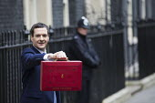 Chancellor George Osborne leaving 11 Downing Street, 2016 Budget, Westminster, London - Jess Hurd - 2010s,2016,Budget Box,CONSERVATIVE,Conservative Party,conservatives,George Osborne,leaving,London,Ministerial Box,POL,POL Politics,political,POLITICIAN,POLITICIANS,Politics,Street,Westminster