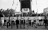 Anti Common Market protest, Trafalgar Square, 1971 against Conservative Government policy to join the European Economic Community. - Claire Bow - 21-10-1971