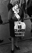 Anti Common Market protest, Trafalgar Square, 1971 against Conservative Government policy for the UK to join the European Economic Community. - Claire Bow - 21-10-1971