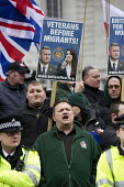 Britain First nationalists countering Stand Up to Racism National Demonstration - Refugees Welcome, Stand Up to Racism, Islamaphobia, anti-Semitism and fascism. Central London. - Jess Hurd - 19-03-2016