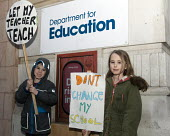 Young children join teachers and supporters protesting outside the Department for Education against Government plans to force every school to turn into an academy. - Stefano Cagnoni - 2010s,2016,Academies,Academy,activist,activists,against,anti,boy,BOYS,CAMPAIGN,campaigner,campaigners,CAMPAIGNING,CAMPAIGNS,child,child children,CHILDHOOD,children,DEMONSTRATING,demonstration,DEMONSTR