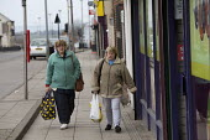 Women shopping, Easington Lane, Hetton, Tyne and Wear - John Harris - 24-03-2016