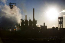 Tata Steel, Port Talbot, Wales - Paul Box - 2010s,2016,Blast furnace,capitalism,capitalist,chimney,chimneys,EBF,Economic,Economy,ENI,environment,environmental degradation,Environmental Issues,FACTORIES,factory,FOUNDRIES,FOUNDRY,furnace,FURNACES