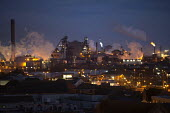 Port Talbot steelworks at night, South Wales - John Harris - 04-04-2016