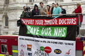 Jolyon Rubinstein, The Revolution Will Be Televised filming his satire show. Junior doctors protesting outside the Department of Health on a 48h strike speaking from a fire engine supplied by the FBU.... - Jess Hurd - 06-04-2016