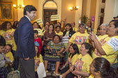 California, State Senate President Pro Tem Kevin de Leon speaking to domestic workers and their disabled clients as the state Senate debates a bill to make permanent the Domestic Workers Bill of Right... - David Bacon - American,2010s,2016,activist,activists,age,ageing population,America,American,americans,Asian,BAME,BAMEs,bill of rights,BME,bmes,California,CAMPAIGN,campaigner,campaigners,CAMPAIGNING,CAMPAIGNS,CARE,C