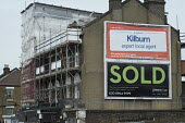 Ads for online estate agent Rightmove and Greene & Co, Kilburn, London. - Philip Wolmuth - 10-04-2016