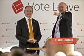 UKIP MP Douglas Carswell and Conservative MP Chris Grayling speaking Vote Leave campaign meeting, Oxford - John Harris - 2010s,2016,Brexit,campaign,campaigning,CAMPAIGNS,CONSERVATIVE,Conservative Party,conservatives,debate,debating,democracy,EU,Europe,European Union,eurosceptic,Euroscepticism,eurosceptics,Leave,meeting,