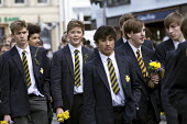 Grammar School pupils, parade commemorating 400th anniversary of William Shakespeare, Shakespeare's Birthday Celebrations, Stratford-upon-Avon - John Harris - 2010s,2016,anniversary,author,authors,boy,boys,child,CHILDHOOD,children,EDU,educate,educating,Education,educational,Grammar School,juvenile,juveniles,KES,kid,kids,King Edward VI School,knowledge,learn