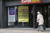 Currys.digital store poster advertising closing down clearance sale, Stratford upon Avon, Warwickshire - John Harris - 25-04-2016