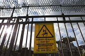 Danger of Death Keep Out sign Electricity substation Western Power Distribution Longbridge Birmingham - John Harris - 23-04-2016