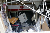 Village Post Office blown up by thieves in a raid to steal the cash machine, Shirehampton, Bristol. Pictured the post master and sub post master - Paul Box - 26-04-2016